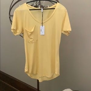 Z Supply Pocket Tee-Yellow- Size L